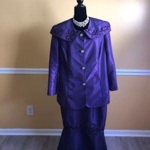 2-pc Lined Skirt Suit Sz 18W